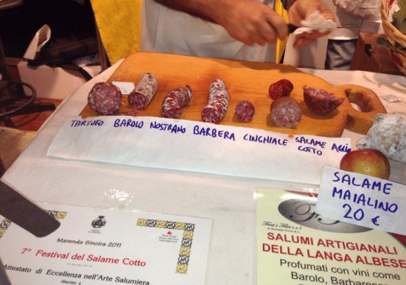 Intrigante esposizione di salumi, curata da un BIG del Salame Cotto!